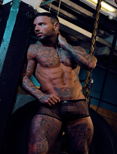 Black See Through Mesh Trunks