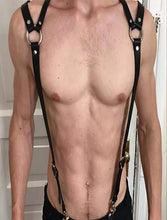 Load image into Gallery viewer, Triangle Back Sexy Chest Fetish Harness