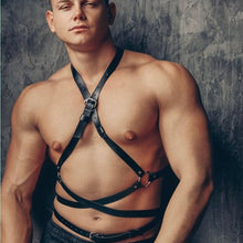 Load image into Gallery viewer, Faux Leather Belt Harness