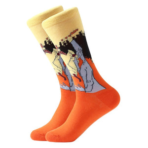 Retro Oil Painting Socks