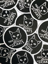 Charger l'image dans la galerie, Fuck le patriarcat vive les chats · Patch brodé avec colle · Iron on patch