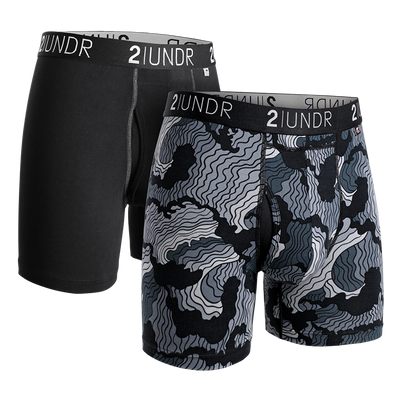 Swing Shift Boxer Brief 2 Pack - Black - Tsunami