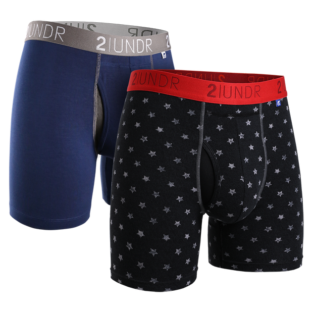 Swing Shift Boxer Brief 2 Pack - Navy - Free4All