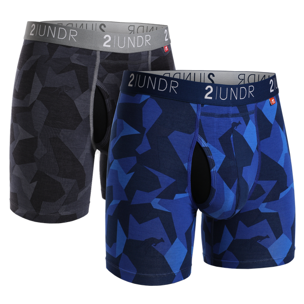 Swing Shift Boxer Brief 2 Pack - Black Camo - Blue Camo