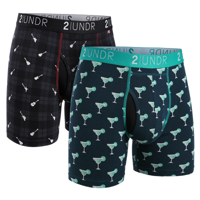 Swing Shift Boxer Brief 2 Pack - Margaritas - Rockin Plaid
