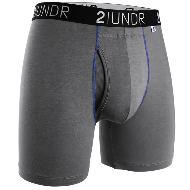 Swing Shift Boxer Brief - Grey/Blue
