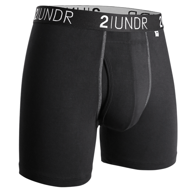 Swing Shift Boxer Brief - Black/Grey