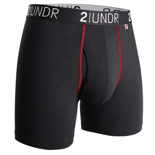 Swing Shift Boxer Brief - Black/Red