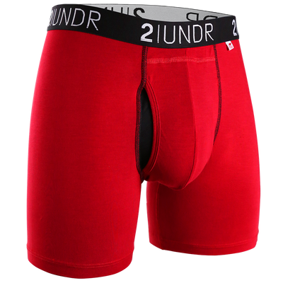 Swing Shift Boxer Brief - Red/Red