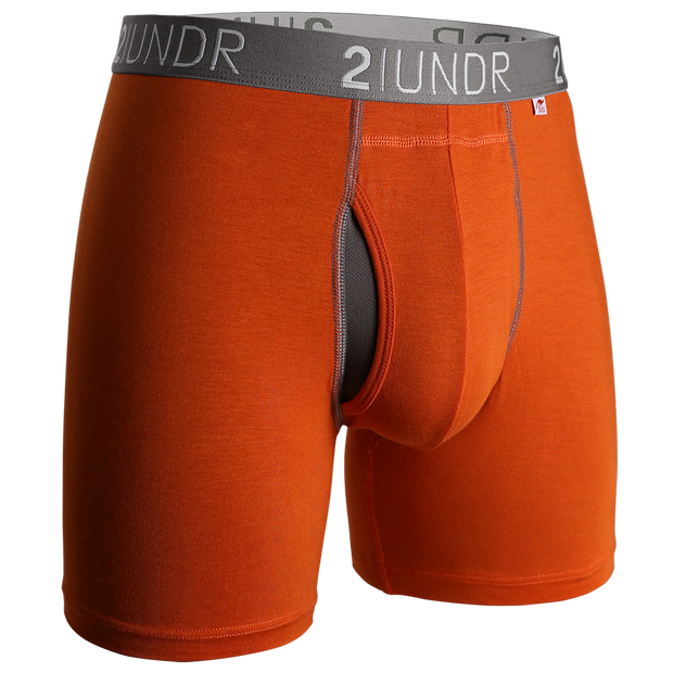 Swing Shift Boxer Brief - Orange/Grey