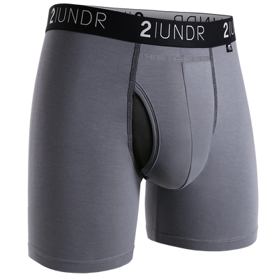 Swing Shift Boxer Brief - Grey/Black