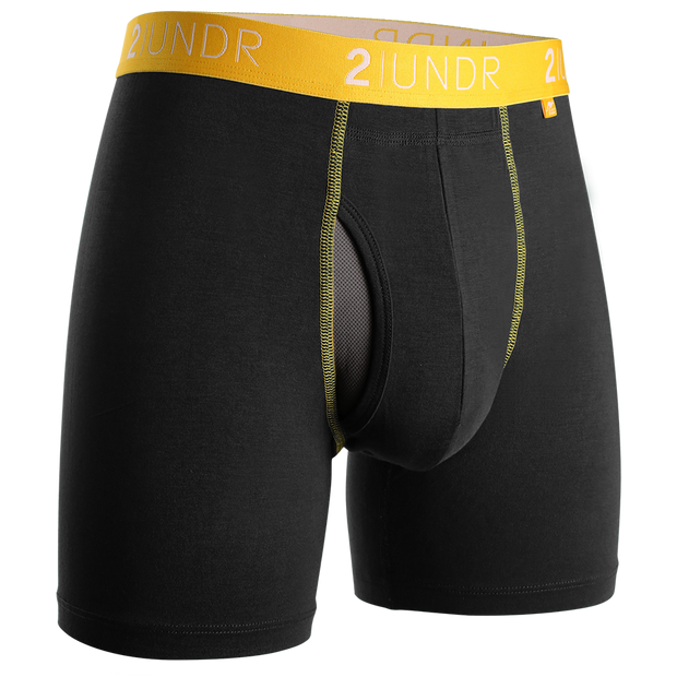 Swing Shift Boxer Brief - Black/Yellow