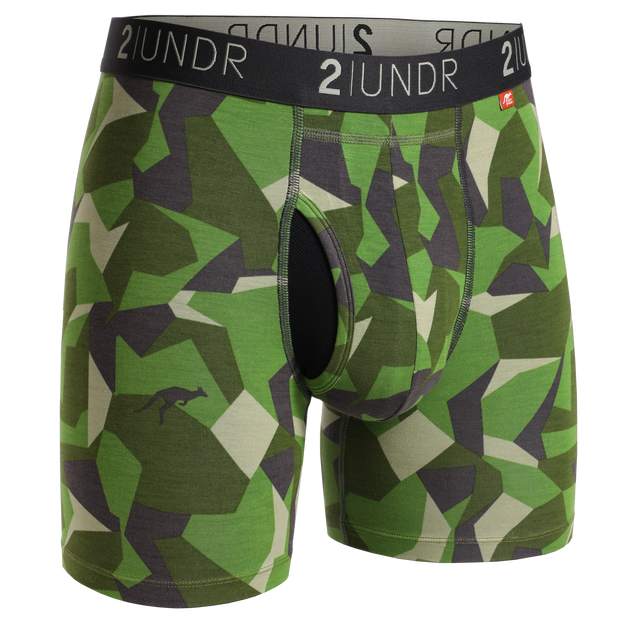 Swing Shift Boxer Brief - Green Camo