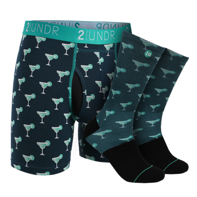 Swing Shift Boxer Brief - Groove Sock Pack - Margaritas