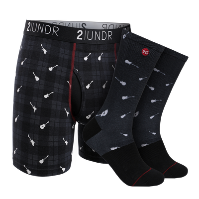 Swing Shift Boxer Brief - Groove Sock Pack - Rockin Plaid