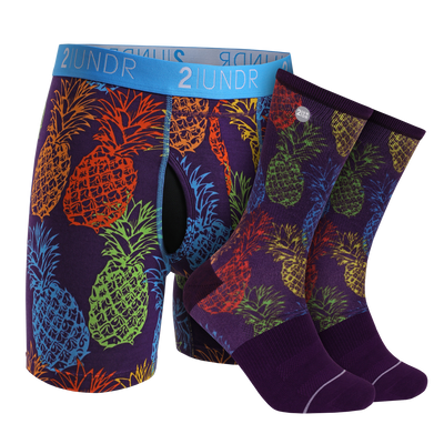Swing Shift Boxer Brief - Groove Sock Pack - Pina Colada