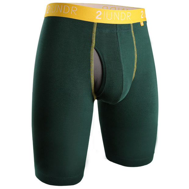 Swing Shift Long Leg - Dark Green/Gold