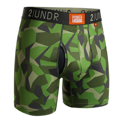 Power Shift Boxer Brief - Green Camo
