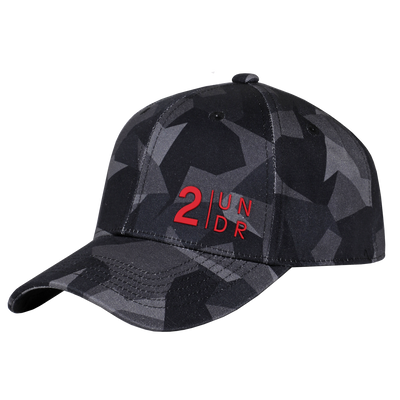 Snap Back Full Print Hat - Black Camo