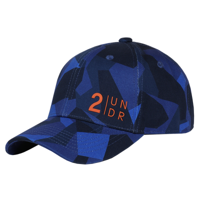 Snap Back Full Print Hat - Blue Camo