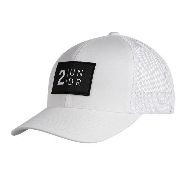 Snap Back Mesh Solid Hat - White