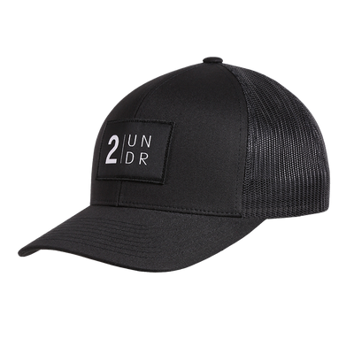 Snap Back Mesh Solid Hat - Black