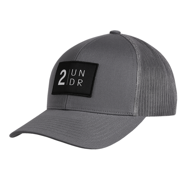 Snap Back Mesh Solid Hat - Grey