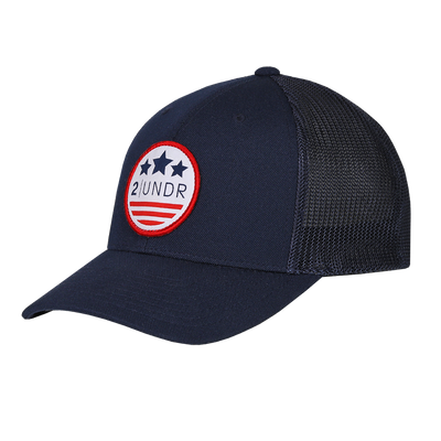 Snap Back Mesh Solid Hat - Team America