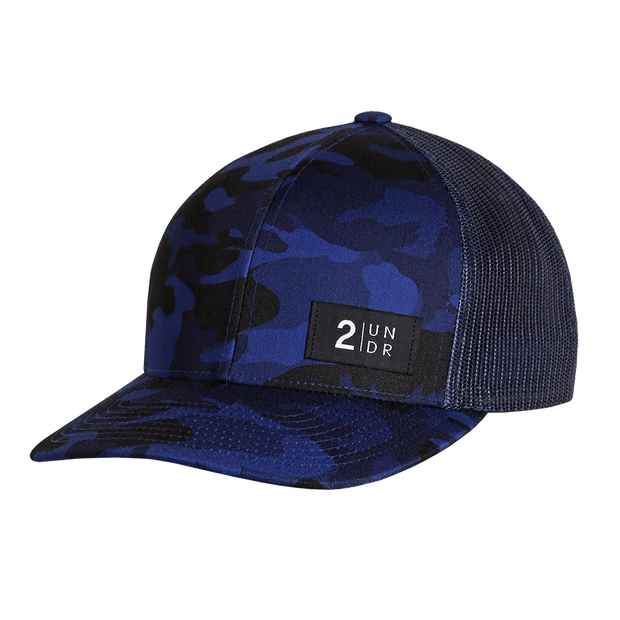 Snap Back Print Hat - Night Camo