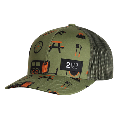 Snap Back Print Hat - Campers