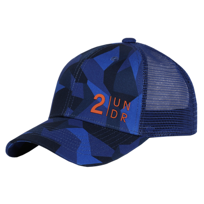 Snap Back  Mesh Print Hat - Blue Camo