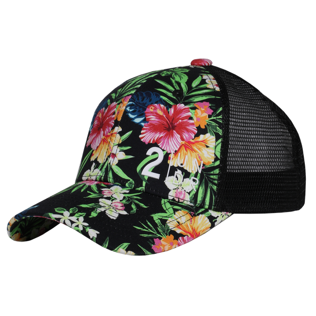 Snap Back  Mesh Print Hat - Kona