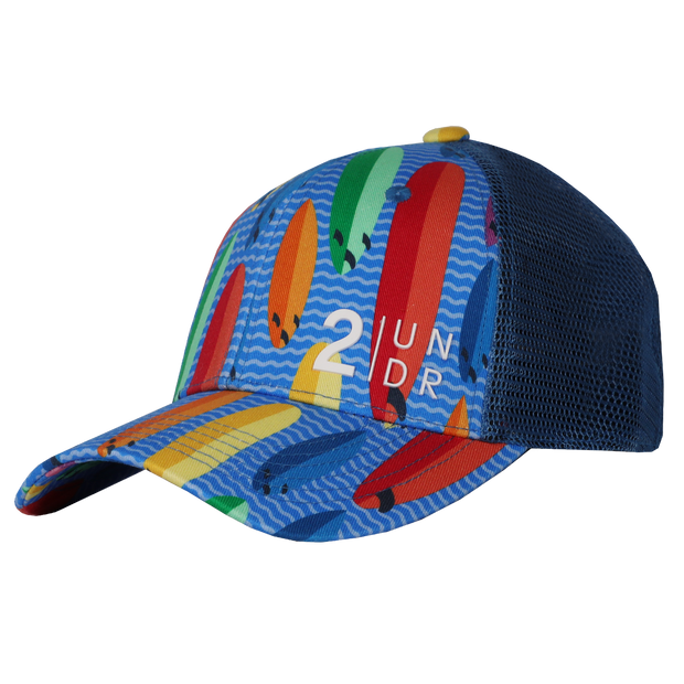 Snap Back  Mesh Print Hat - Surf Shop