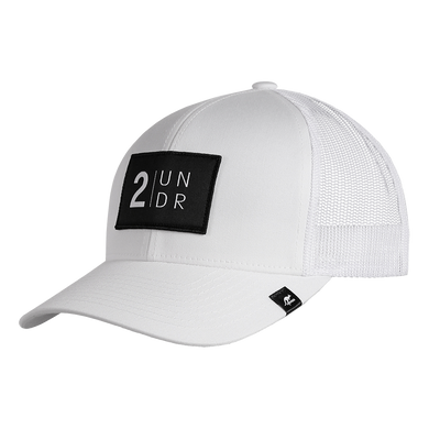 Snap Back Solid Hat - White/Grey