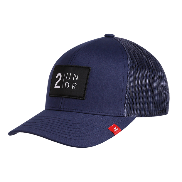 Snap Back Solid Hat - Navy/Grey