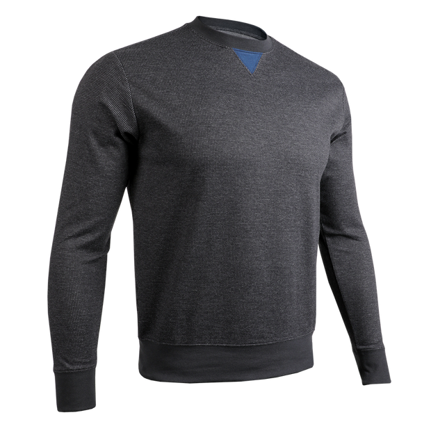 Long Sleeve Crew Pullover - Black/Grey