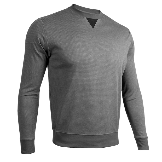 Long Sleeve Crew Pullover - Grey/Grey