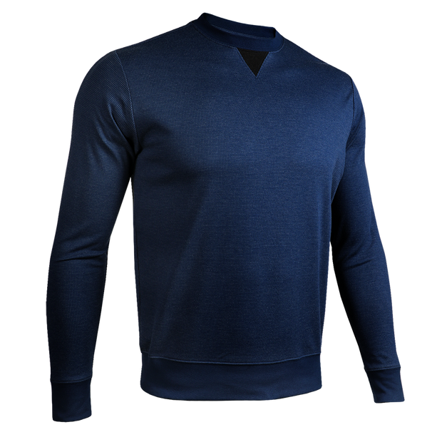Long Sleeve Crew Pullover - Dark Navy/Black