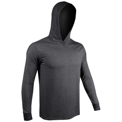 Long Sleeve Hooded Tee - Charcoal