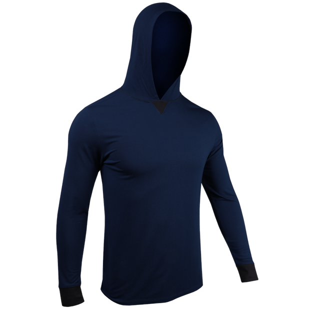 Long Sleeve Hooded Tee - Dark Navy
