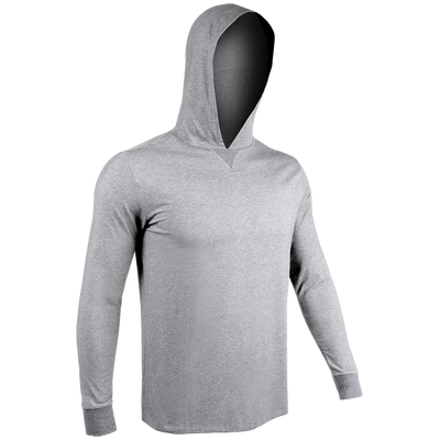 Long Sleeve Hooded Tee - Grey