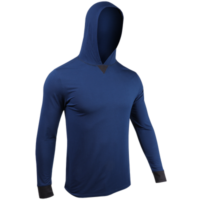 Long Sleeve Hooded Tee - Navy