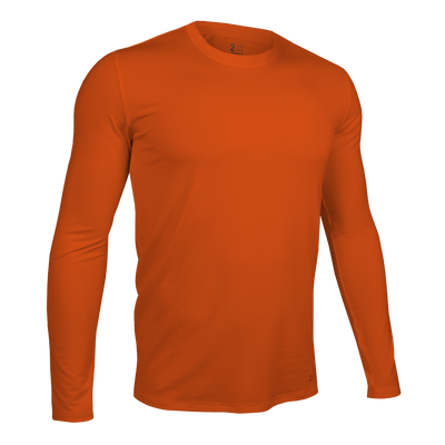 Long Sleeve Crew Tee - Deep Orange
