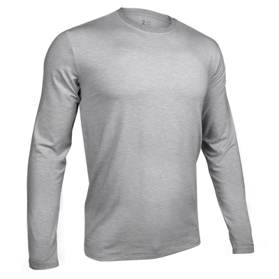 Long Sleeve Crew Tee - Grey