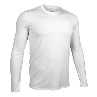 Long Sleeve Crew Tee - White