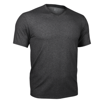 V Neck Tee - Charcoal