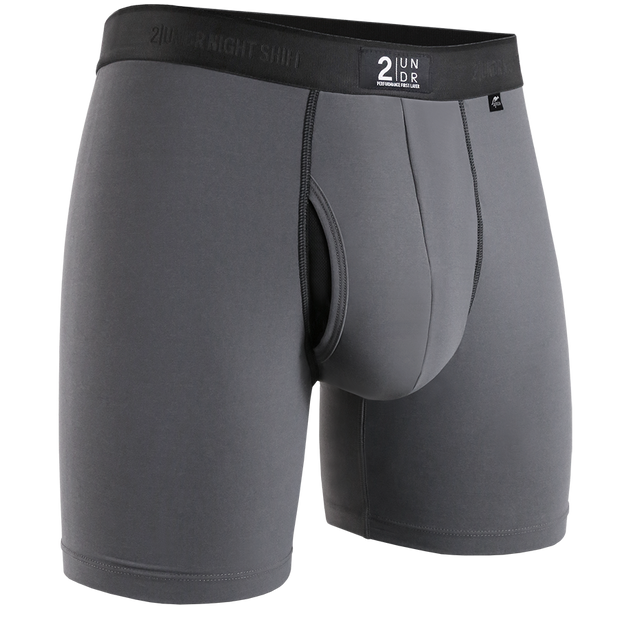 Night Shift Boxer Brief - Light Grey