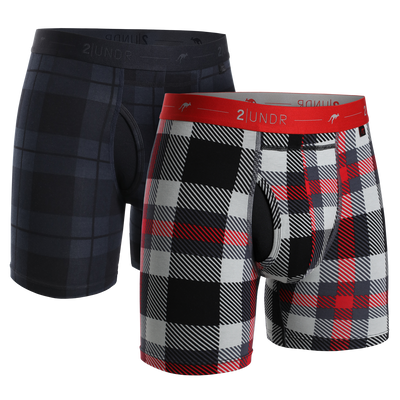 Day Shift Boxer Brief 2 Pack - Stealth - Mac Plaid