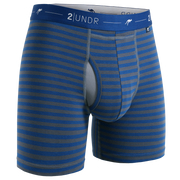 Day Shift Boxer Brief - Navy/Grey Stripes