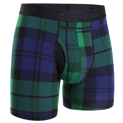 Day Shift Boxer Brief - Black Watch Plaid